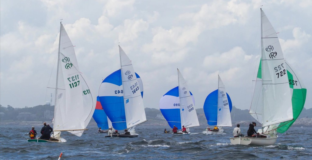 Fleet 5 members competing at the 2015 Rhodes 19 Nationals hosted by the Corinthian Yacht Club in Marblehead, MA (c) 2015 Blake Jackson